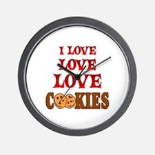 Love Love Cookies Wall Clock