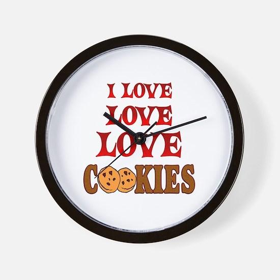 Love Love Cookies Wall Clock