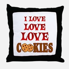 Love Love Cookies Throw Pillow