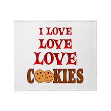 Love Love Cookies Throw Blanket