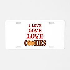 Love Love Cookies Aluminum License Plate