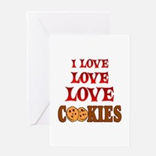 Love Love Cookies Greeting Card