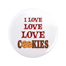 "Love Love Cookies 3.5"" Button"