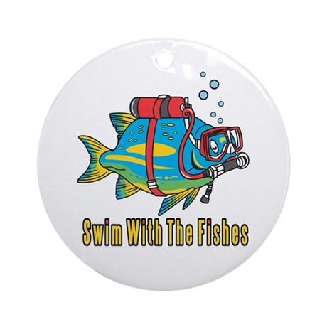 Swim With The Fishes Ornament (Round)