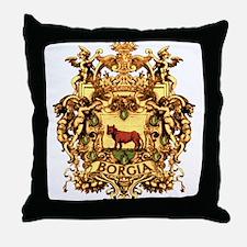 Ornate Borgia Coat Of Arms Throw Pillow