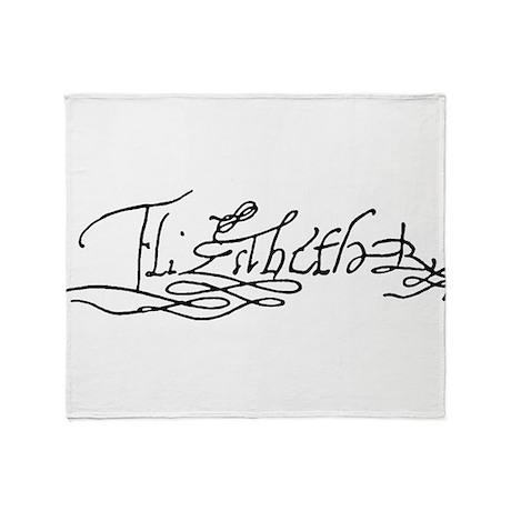 Queen Elizabeth I Signature Throw Blanket