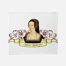 Anne Boleyn Throw Blanket