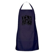Wives Of Henry The Eighth Apron (dark)