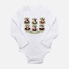 Fates Of Henry VIII Wives Long Sleeve Infant Bodys