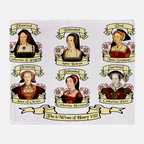 Fates Of Henry VIII Wives Throw Blanket