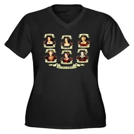 Fates Of Henry VIII Wives Women's Plus Size V-Neck