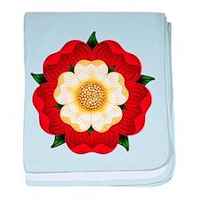 Tudor Rose baby blanket