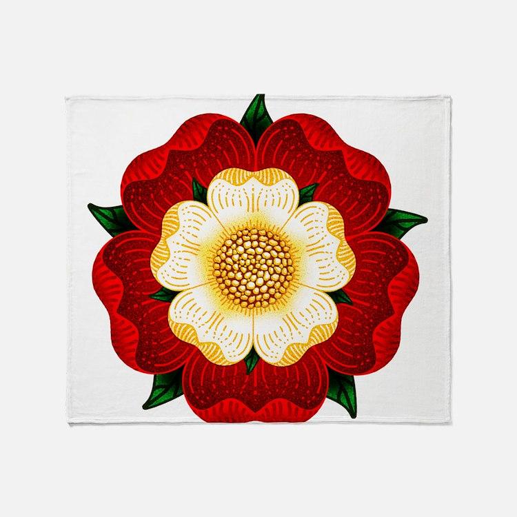 Tudor Rose Throw Blanket