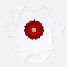Red Rose Of Lancaster Long Sleeve Infant Bodysuit