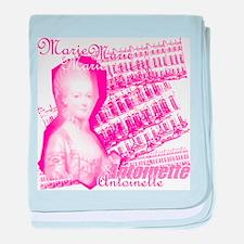 Pink Marie Antoinette Collage baby blanket