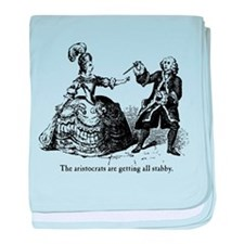 Aristocrats Getting Stabby baby blanket