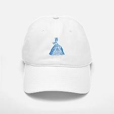18th Century Lady Blue Baseball Baseball Cap