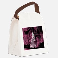 Pink Lady Playing Harpsichord Canvas Lunch Bag