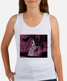 Pink Lady Playing Harpsichord Women's Tank Top