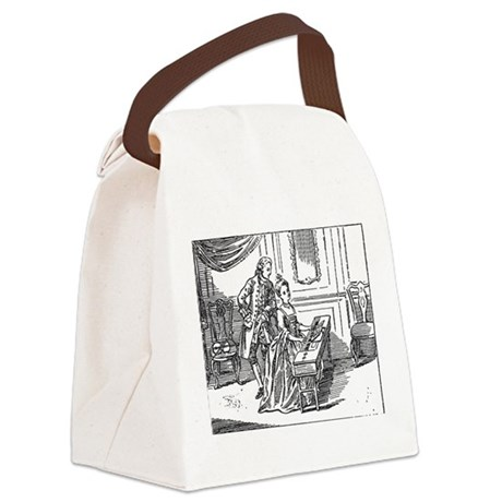 Playing The Harpsichord Canvas Lunch Bag