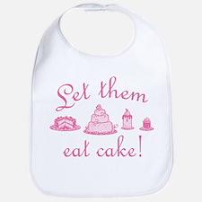 Sweet Pink Let Them Eat Cake Bib