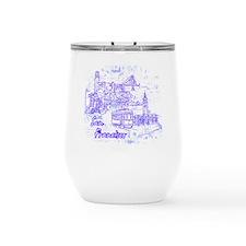 Marie Antoinette Pop Art Large Pet Bowl