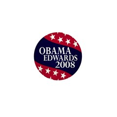 Obama-Edwards 2008 Mini Button (10 pack)