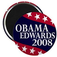 Obama-Edwards 2008 Magnet