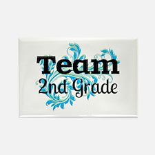 Team 2nd Grade Rectangle Magnet (10 pack)