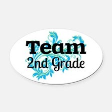 Team 2nd Grade Oval Car Magnet