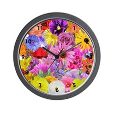 Eileen's Multifloral Wall Clock
