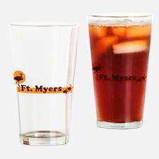 Fort Myers - Beach Design. Drinking Glass