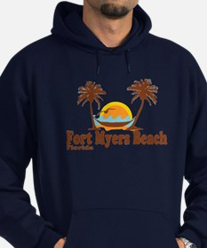 Fort Myers - Palm Trees Design. Hoodie (dark)