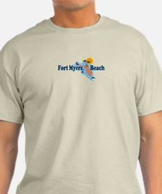 Fort Myers - Map Design. T-Shirt