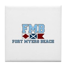 Fort Myers - Nautical Design. Tile Coaster