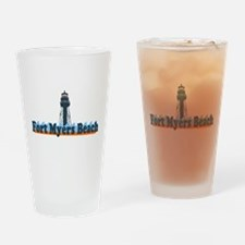 Fort Myers - Lighthouse Design. Drinking Glass