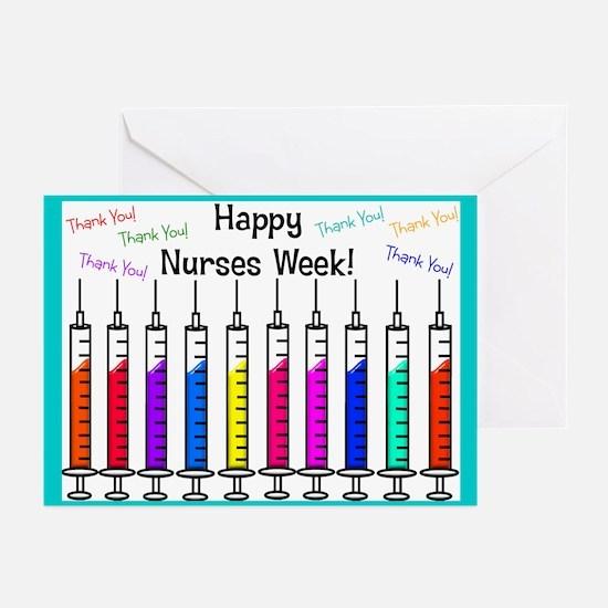 Happy Nurses week syringes Greeting Cards (Pk of 1
