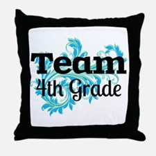Team Fourth Grade Throw Pillow