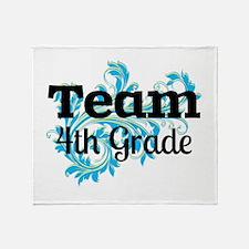 Team Fourth Grade Throw Blanket