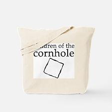 Cornhole in black & white Tote Bag