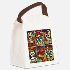 Day of the Dead Sugar Skulls Canvas Lunch Bag