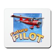 Red Small Plane, Future Pilot Mousepad