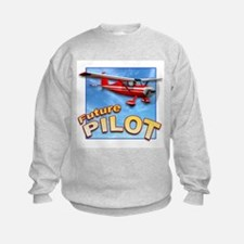 Red Small Plane, Future Pilot Sweatshirt