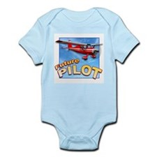 Red Small Plane, Future Pilot Infant Bodysuit