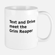 Text and Drive meet the Grim Reaper Mug