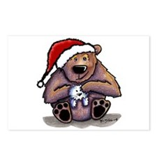 Christmas Bear Huggin' Kitty Postcards (Package of