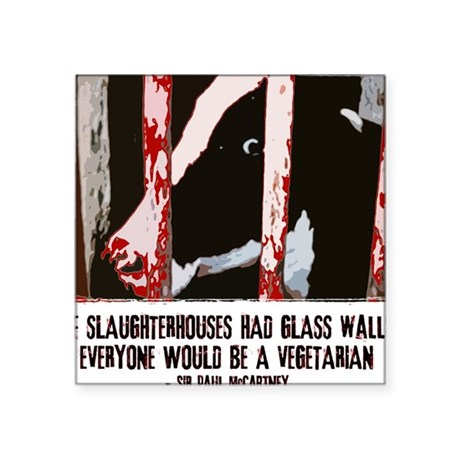 Slaughterhouse Cow Rectangle Sticker