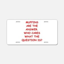muffin Aluminum License Plate