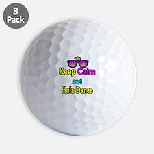 Crown Sunglasses Keep Calm And Hula Dance Golf Ball