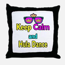 Crown Sunglasses Keep Calm And Hula Dance Throw Pi